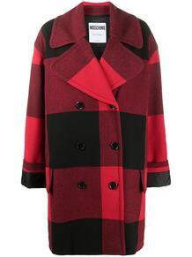 двубортное пальто в клетку Love Moschino 155325855156