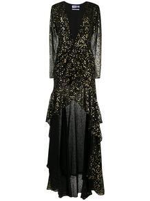 платье с глубоким декольте и принтом THE ATTICO 156064685156