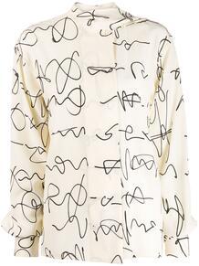 блузка с принтом Victoria Beckham 146079634950