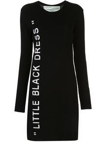 трикотажное платье с принтом OFF-WHITE 15103979888883