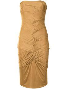 платье без бретелей с драпировкой Gucci Pre-Owned 157455905156