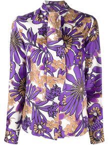 блузка с завязками на воротнике и цветочным принтом Victoria Beckham 1509619554