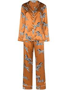 пижама с зебровым принтом Olivia Von Halle 159666278883