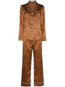 пижама Lila с леопардовым принтом Olivia Von Halle 159637088883