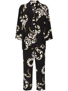 пижама Casablanca Ciro со змеиным принтом Olivia Von Halle 1596699577