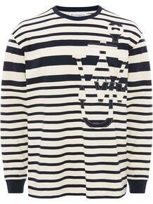 полосатая футболка с длинными рукавами и логотипом Anchor JW Anderson 1575254076