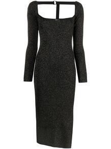 платье в рубчик с эффектом металлик Diesel 15955272888883