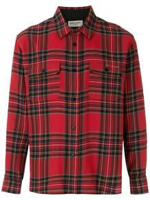 клетчатая рубашка на пуговицах Yves Saint Laurent 152431795157