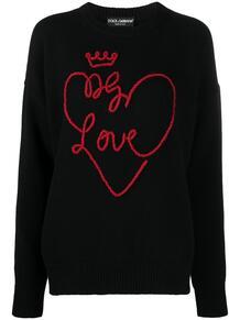 джемпер с вышивкой Dolce&Gabbana 161310125252