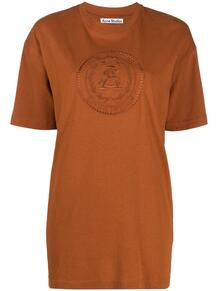 футболка с вышитым логотипом ACNE STUDIOS 160338068883