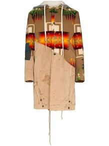 пальто 50/50 Navajo с капюшоном и узором GREG LAUREN 1443209051