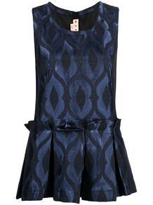 блузка с баской Marni 163471705156