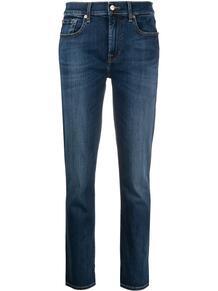 укороченные джинсы с подвернутыми манжетами 7 for all mankind 163456365148