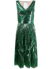 коктейльное платье с пайетками MARCO DE VINCENZO 141530005156
