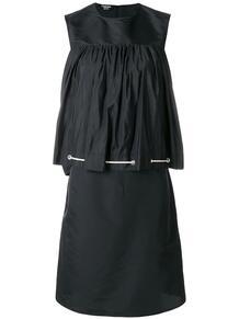 присборенное платье с контрастными завязками CALVIN KLEIN 205W39NYC 128458815156