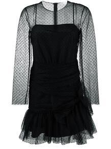 многослойное платье из тюля RED VALENTINO 130197325252