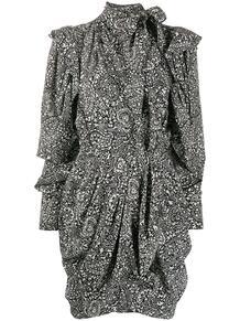 платье мини Bruna с принтом пейсли и драпировкой Isabel Marant 149524015152