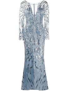платье с пайетками и V-образным вырезом ZUHAIR MURAD 150849885156
