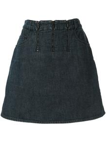 джинсовая юбка с молниями Chanel Pre-Owned 146356355156