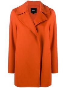 трикотажное пальто без застежки Theory 1562310880