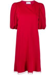 платье со вставкой из тюля RED VALENTINO 1561757783