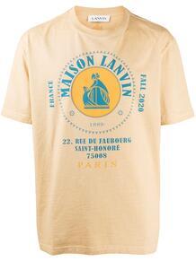 футболка с логотипом Lanvin 1582955783