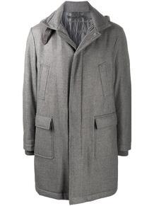 пальто с высоким воротником ELEVENTY 1601231876