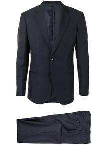 костюм-тройка в тонкую полоску Giorgio Armani 156706425348