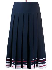 юбка в полоску со складками Thom Browne 156181855156