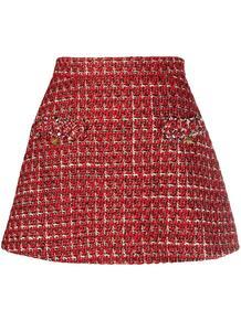 твидовая юбка-шорты Rockstud с завышенной талией Valentino 162281685250
