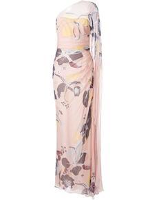 платье на одно плечо с цветочным принтом ZUHAIR MURAD 139291815156