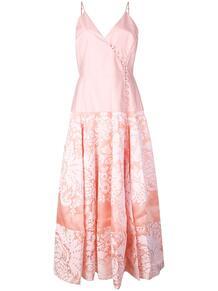 платье миди из ткани дамаск с запахом Rosie Assoulin 1361286652