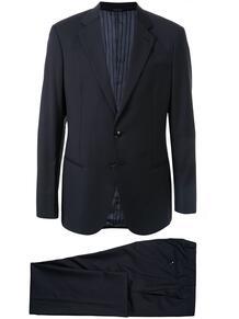 костюм-двойка в тонкую полоску Giorgio Armani 149134095348