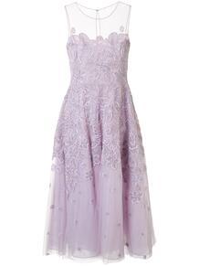 платье из тюля с цветочной вышивкой ZUHAIR MURAD 150547885156