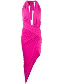 платье миди асимметричного кроя с глубоким декольте ALEXANDRE VAUTHIER 153911825154