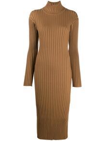 платье в рубчик с разрезом Kenzo 1556888677