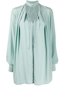 блузка оверсайз с воротником на завязках Victoria Beckham 150923654948