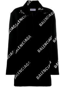 пальто А-силуэта с логотипом Balenciaga 153589755156