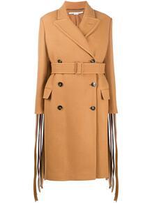двубортное пальто с бахромой Stella Mccartney 158310695248