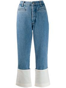 укороченные джинсы с подворотами Loewe 141907415156