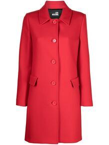 пальто с логотипом Love Moschino 160525065156