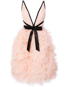 коктейльное платье с отделкой в виде роз Marchesa 1235447256