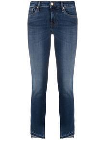 узкие джинсы Pyper с диагональными манжетами 7 for all mankind 162067295057