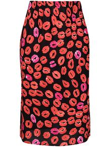 юбка с завышенной талией и принтом Marni 162689755250