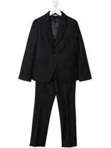 жаккардовый костюм-двойка с однобортным пиджаком Dolce & Gabbana Kids 162691224950