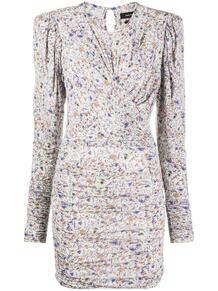 платье со сборками и абстрактным принтом Isabel Marant 157512265152