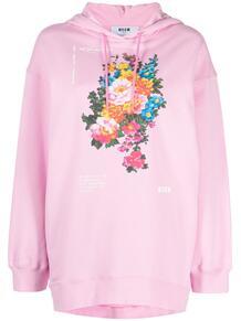 футболка с цветочным принтом MSGM 16322899888883