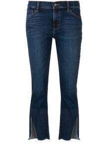 укороченные джинсы с разрезами на манжетах J Brand 136995685056