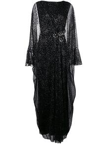 длинное платье из тюля с эффектом металлик TALBOT RUNHOF 132550915154
