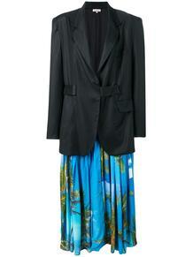 длинный пиджак со съемным платьем Natasha Zinko 135680055150